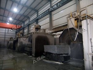 5 machines cutting granites
